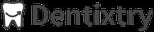 Dentixtry Logo Horizontal DarkGrey on White background