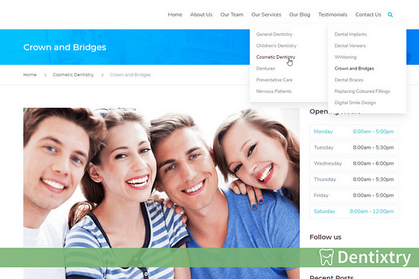 Dentixtry - Google Ads For Dentists - Using Inner Pages as Landing Page